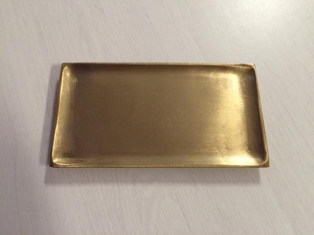 kerzenteller gold matt 17 x 9 cm. Black Bedroom Furniture Sets. Home Design Ideas